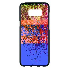 Glitchdrips Shadow Color Fire Samsung Galaxy S8 Plus Black Seamless Case