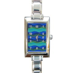 Geometric Line Wave Chevron Waves Novelty Rectangle Italian Charm Watch by Mariart
