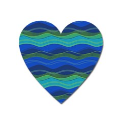 Geometric Line Wave Chevron Waves Novelty Heart Magnet by Mariart