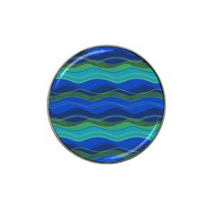 Geometric Line Wave Chevron Waves Novelty Hat Clip Ball Marker (10 Pack) by Mariart