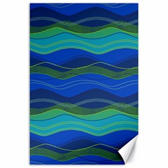 Geometric Line Wave Chevron Waves Novelty Canvas 24  X 36  by Mariart