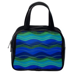 Geometric Line Wave Chevron Waves Novelty Classic Handbags (one Side) by Mariart