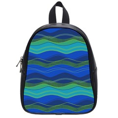 Geometric Line Wave Chevron Waves Novelty School Bags (small)  by Mariart