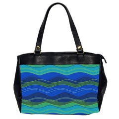 Geometric Line Wave Chevron Waves Novelty Office Handbags (2 Sides)  by Mariart