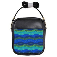 Geometric Line Wave Chevron Waves Novelty Girls Sling Bags by Mariart