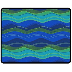 Geometric Line Wave Chevron Waves Novelty Fleece Blanket (medium)  by Mariart