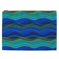Geometric Line Wave Chevron Waves Novelty Cosmetic Bag (xxl)  by Mariart