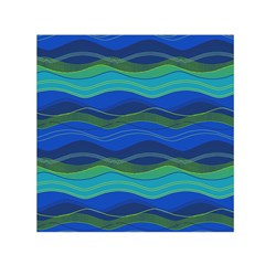 Geometric Line Wave Chevron Waves Novelty Small Satin Scarf (square) by Mariart