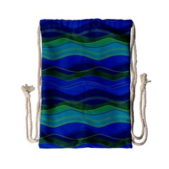 Geometric Line Wave Chevron Waves Novelty Drawstring Bag (small) by Mariart