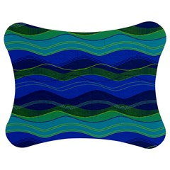 Geometric Line Wave Chevron Waves Novelty Jigsaw Puzzle Photo Stand (bow) by Mariart