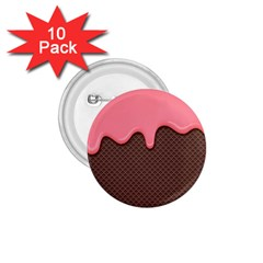 Ice Cream Pink Choholate Plaid Chevron 1 75  Buttons (10 Pack) by Mariart