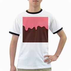 Ice Cream Pink Choholate Plaid Chevron Ringer T Shirts