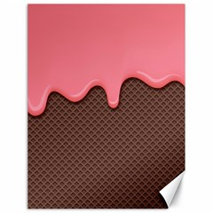 Ice Cream Pink Choholate Plaid Chevron Canvas 18  X 24   by Mariart