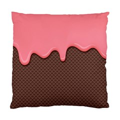 Ice Cream Pink Choholate Plaid Chevron Standard Cushion Case (one Side) by Mariart
