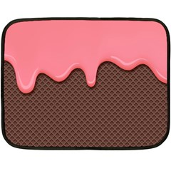 Ice Cream Pink Choholate Plaid Chevron Double Sided Fleece Blanket (mini)  by Mariart