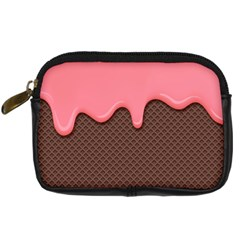 Ice Cream Pink Choholate Plaid Chevron Digital Camera Cases by Mariart