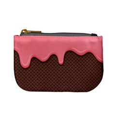 Ice Cream Pink Choholate Plaid Chevron Mini Coin Purses