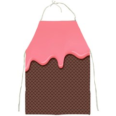 Ice Cream Pink Choholate Plaid Chevron Full Print Aprons by Mariart