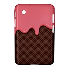 Ice Cream Pink Choholate Plaid Chevron Samsung Galaxy Tab 2 (7 ) P3100 Hardshell Case  by Mariart