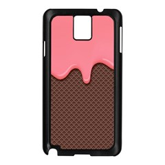 Ice Cream Pink Choholate Plaid Chevron Samsung Galaxy Note 3 N9005 Case (black) by Mariart