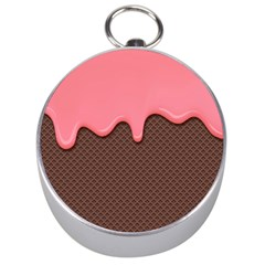Ice Cream Pink Choholate Plaid Chevron Silver Compasses by Mariart