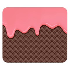 Ice Cream Pink Choholate Plaid Chevron Double Sided Flano Blanket (small)  by Mariart