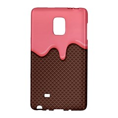 Ice Cream Pink Choholate Plaid Chevron Galaxy Note Edge by Mariart