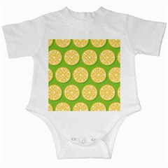 Lime Orange Yellow Green Fruit Infant Creepers by Mariart