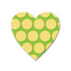Lime Orange Yellow Green Fruit Heart Magnet by Mariart