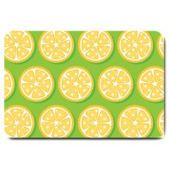 Lime Orange Yellow Green Fruit Large Doormat  by Mariart