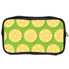Lime Orange Yellow Green Fruit Toiletries Bags 2 Side by Mariart