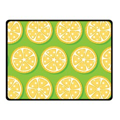 Lime Orange Yellow Green Fruit Fleece Blanket (small) by Mariart