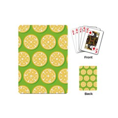 Lime Orange Yellow Green Fruit Playing Cards (mini)  by Mariart