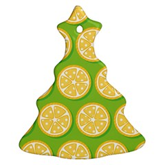 Lime Orange Yellow Green Fruit Christmas Tree Ornament (two Sides) by Mariart