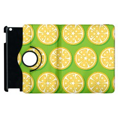 Lime Orange Yellow Green Fruit Apple Ipad 2 Flip 360 Case by Mariart