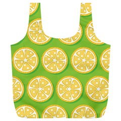 Lime Orange Yellow Green Fruit Full Print Recycle Bags (l)