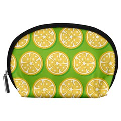 Lime Orange Yellow Green Fruit Accessory Pouches (large)  by Mariart