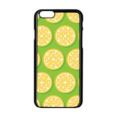 Lime Orange Yellow Green Fruit Apple Iphone 6/6s Black Enamel Case by Mariart
