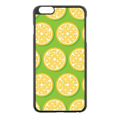 Lime Orange Yellow Green Fruit Apple Iphone 6 Plus/6s Plus Black Enamel Case by Mariart
