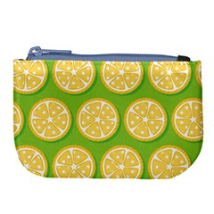 Lime Orange Yellow Green Fruit Large Coin Purse by Mariart