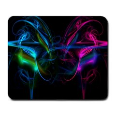 Light Waves Light Red Blue Large Mousepads by Mariart