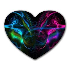 Light Waves Light Red Blue Heart Mousepads by Mariart