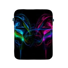 Light Waves Light Red Blue Apple Ipad 2/3/4 Protective Soft Cases by Mariart