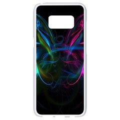 Light Waves Light Red Blue Samsung Galaxy S8 White Seamless Case