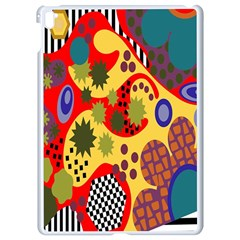 Line Star Polka Dots Plaid Circle Apple Ipad Pro 9 7   White Seamless Case by Mariart