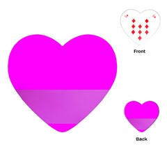 Line Pink Playing Cards (heart)  by Mariart