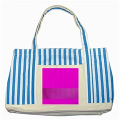 Line Pink Striped Blue Tote Bag by Mariart