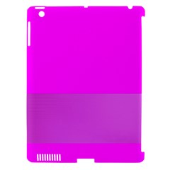 Line Pink Apple Ipad 3/4 Hardshell Case (compatible With Smart Cover)