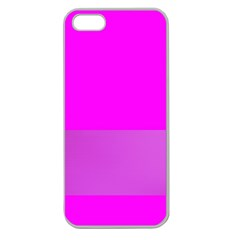 Line Pink Apple Seamless Iphone 5 Case (clear) by Mariart