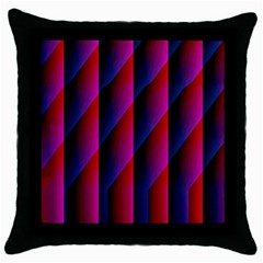 Photography Illustrations Line Wave Chevron Red Blue Vertical Light Throw Pillow Case (black)